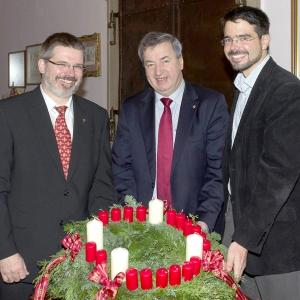 Adventkranz Bürgermeister 2013