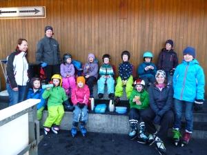 Familiengruppe Eislaufen